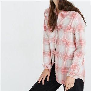 NWT Madewell Flannel shirt